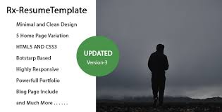 Template For Resume Rx Resume Responsive Resume Template By Theme Themeforest
