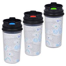 bulk customizable photo travel mugs with flip top closures 11 oz