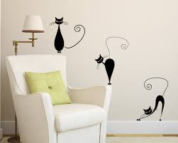 cute anime cats wall decal wall art decals vinyl wall stickers by vinyl wall decal 3 cute cats wall decals