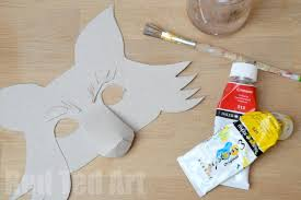 fantastic mr fox diy mask for world book day party delights blog