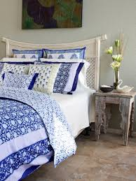 blue white floral bedding tablecloths shower curtains saffron