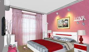 Bedroom Wall Ideas Bedroom Cute Pink Bedroom Wall Design With Colorful Flower