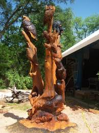 awesome wood stump carvings sculptures 11 michael bradley time