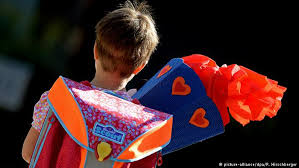 why germans give their paper cones on the day of school