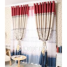 Red Blue Curtains Cute Heavy Bright Red Beige And Dark Blue Polka Dot Curtains With