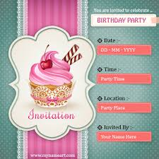 create birthday party invitations card online free wishes