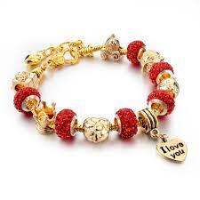 charm bead bangle bracelet images Pandora crystal beads women charm bracelets bangles ken jpg