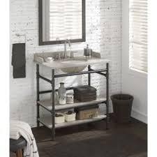 Open Shelf Bathroom Vanities Diy Open Shelf Vanity With Free Plans Open Shelves Vanities And