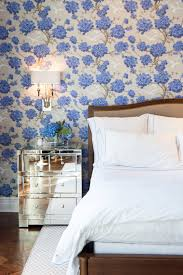 25 stunning blue bedroom ideas blue floral wallpaper in the bedroom