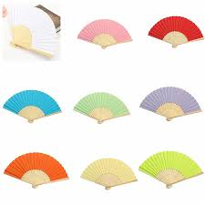 fans for wedding candy color pocket folding bamboo fan paper fans wedding