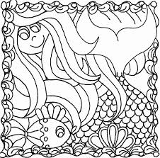 doodle coloring pages mermaid coloringstar