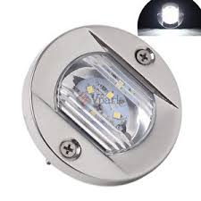 flush mount led lights 12v marine boat transom led stern light stainless steel spashproof flush
