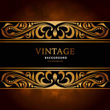 luxury vintage ornament background vector free