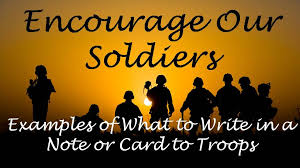 messages to write to military service people wishes messages sayings