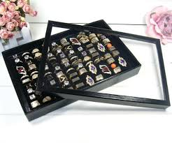necklace display case images Fashion new butterfly black pendant set display box jewelry holder jpg
