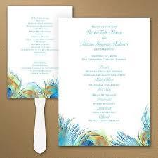 peacock wedding programs 43 best wedding program fans and ideas images on fan