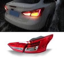 2014 ford focus tail light 1 pair car styling led tail light l brake reversing kit