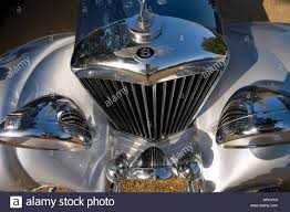 bentley classic bentley classic vintage car blue and silver with chrome radiator