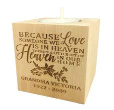 memorial tea light candle holder personalized memorial sympathy bereavement candle holder custom