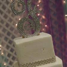bling wedding cake toppers initial wedding cake toppers on wanelo