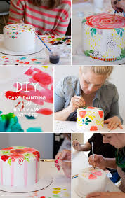 cake diy diy cake painting for s day think make
