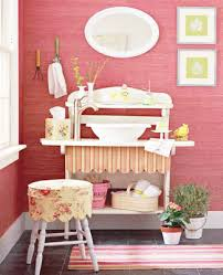 pink bathroom decorating ideas home staging tips space saving small bathrooms design