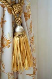 Curtains With Ribbon Ties Learn How To Use This Decorative Ribbon Tie Back Tassel With Your