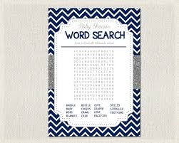 navy blue chevron silver glitter baby shower word search pdf