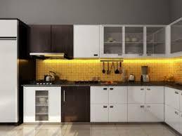 cuisine noir et jaune cuisines superbe cuisine design avec dosseret carrelage jaune la