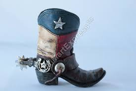 amazon com mini texas flag boot toothpick pen holder vase tiny