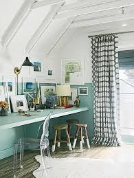 Built In Desk Ideas Coastal Living Cottage Design Ideas U0026 Paint Colors Home Bunch