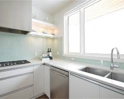 kitchen trendy kitchen white glass backsplash cabinets blue