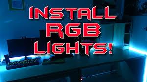 nexlux led light strip installation how to setup led light strips for your gaming setup rgb lights
