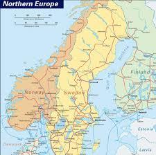 map northern europe scandinavia northern europe tourist map oslo mappery