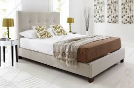 King Storage Bed Frame Kaydian Walkworth Oatmeal Fabric Ottoman Storage Bed Double