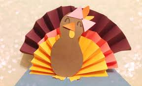 diy 3d paper turkey
