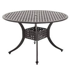 Round Patio Dining Set - carrolton 5 piece cast aluminum patio dining set with 2 swivel