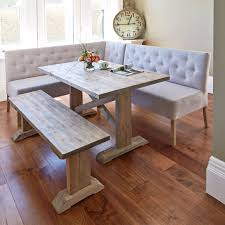 corner dining table and bench set with inspiration design 39500