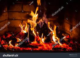 burning fireplace binhminh decoration