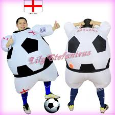 football player halloween costume for kids chub england football team inflatable jumpsuit cheerleader