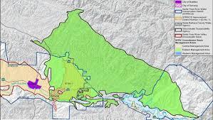 Santa Barbara Map Santa Barbara County Sends Water Supply Project List To Governor