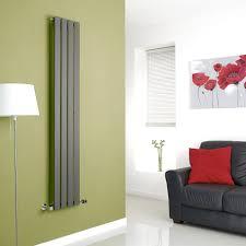 alpha anthracite vertical single slim panel designer radiator