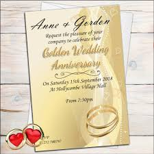 50th wedding anniversary invitations 10 personalised golden 50th wedding anniversary invitations n5