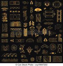 Art Deco Design Elements Deco Vector Clipart Eps Images 52 050 Deco Clip Art Vector