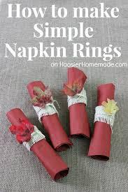 thanksgiving napkin rings simple diy napkin rings and thanksgiving tablescape simple diy