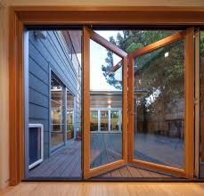 Bi Fold Glass Patio Doors by Lacantina Doors Deck Beach With Aluminum Windows Courtyard Doggie