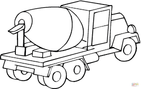 cement mixer car coloring page free printable coloring pages