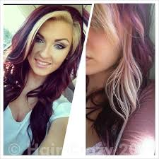 blonde and burgundy hairstyles red highlights burgundy hair color of burgundy red hair color with