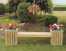 Country Outdoor Furniture by Amish Pine Outdoor Potting Table Country Bench Planters And