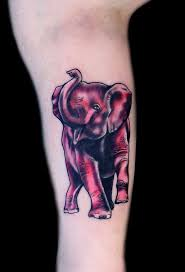 15 cute pink elephant tattoo designs with meaning